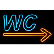 WC (right) Neon Sign